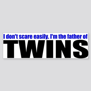 Hard to scare mother of twins Sticker (Bumper)