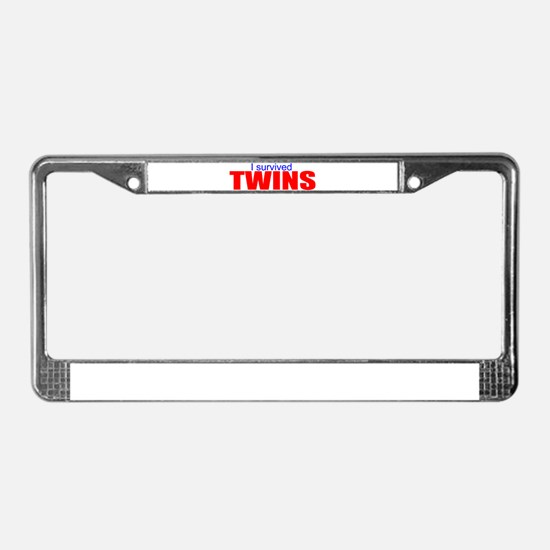 I survived twins License Plate Frame