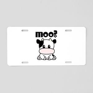 Cute Moo? Aluminum License Plate