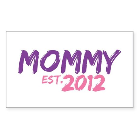 Mommy Est 2012 Sticker (Rectangle)
