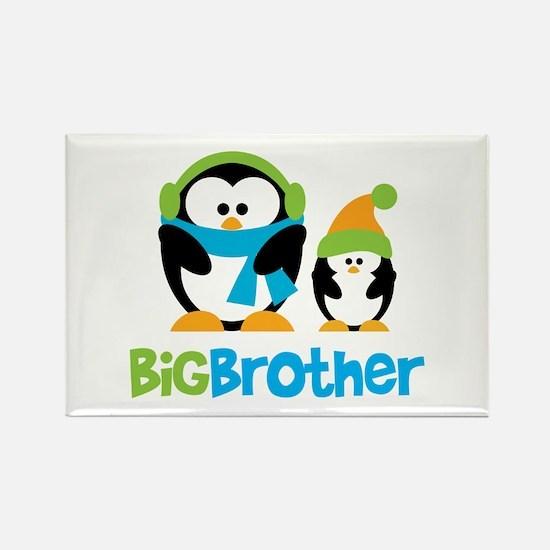 2 Penguins Big Brother Rectangle Magnet