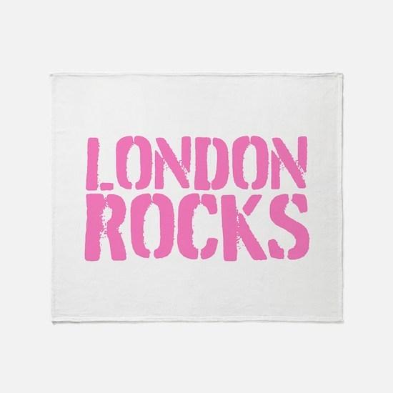 London Rocks Throw Blanket