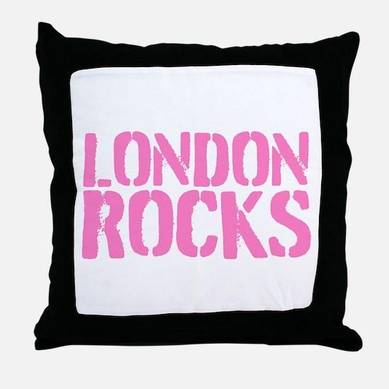 London Rocks Throw Pillow