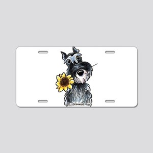 Sunflower Schnauzer Aluminum License Plate