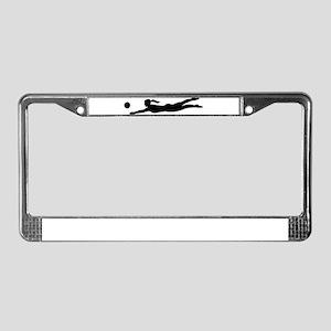 Women beachvolleyball License Plate Frame