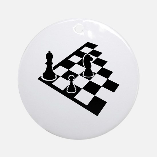 Chessboard chess Ornament (Round)