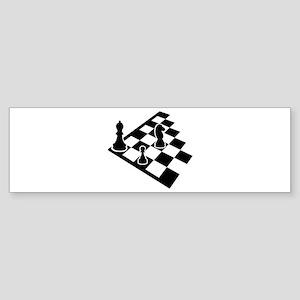 Chessboard chess Sticker (Bumper)