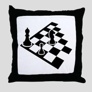 Chessboard chess Throw Pillow