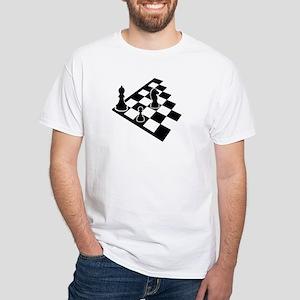 Chessboard chess White T-Shirt