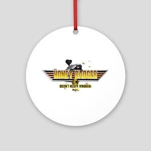 Honey Badger Top Gun Wingman Ornament (Round)