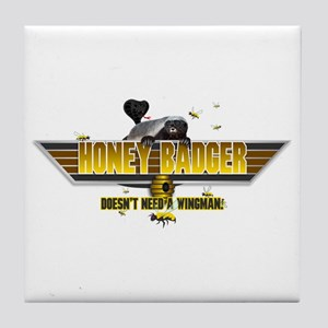 Honey Badger Top Gun Wingman Tile Coaster