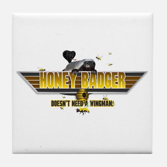 Honey Badger Top Gun Wingman Tile Coaster