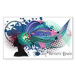 Fantasy Writer's Brain - By Cas Fick Sticker