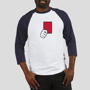 Referee red card Baseball Jersey