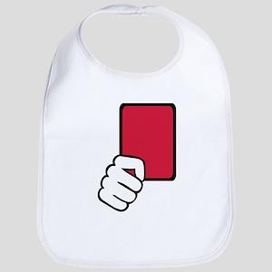 Referee red card Bib