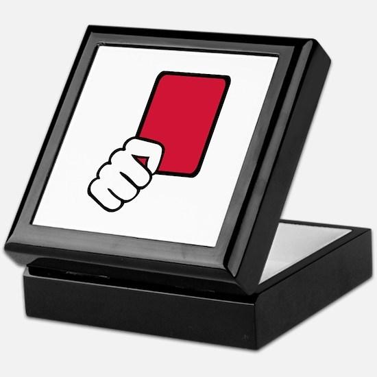 Referee red card Keepsake Box