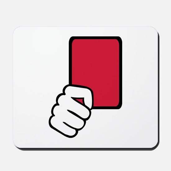 Referee red card Mousepad
