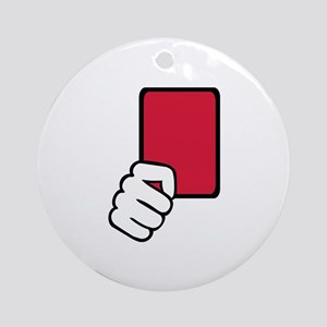 Referee red card Ornament (Round)