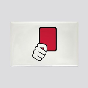Referee red card Rectangle Magnet