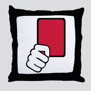 Referee red card Throw Pillow