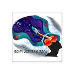 Scifi Writer's Brain - By Cas Fick Sticker
