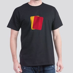 Referee red yellow card Dark T-Shirt