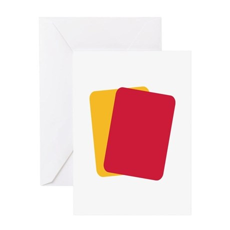 Referee red yellow card Greeting Card