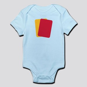 Referee red yellow card Infant Bodysuit