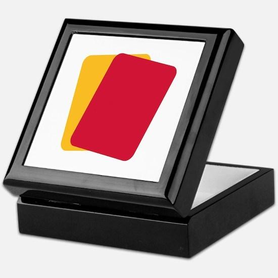 Referee red yellow card Keepsake Box