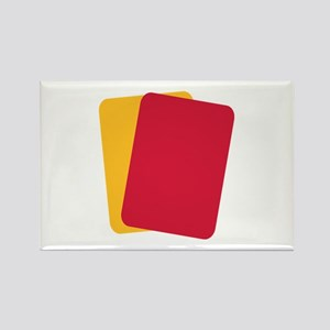 Referee red yellow card Rectangle Magnet