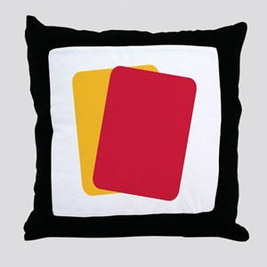Referee red yellow card Throw Pillow