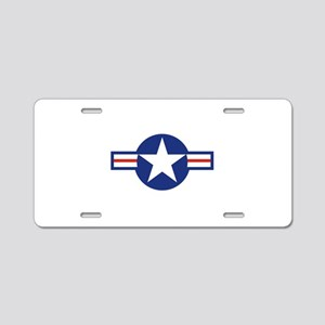 Star & Bar Aluminum License Plate