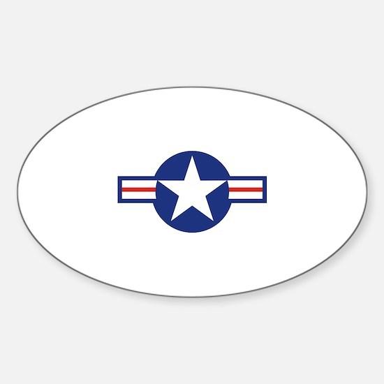 Star & Bar Sticker (Oval)