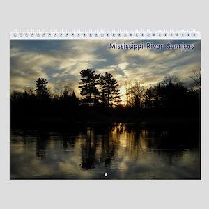 Mississippi River Sunrises Wall Calendar