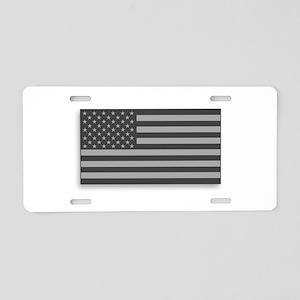 USA American Flag Gray Camo Aluminum License Plate