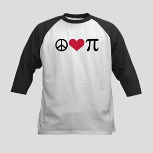 Peace, Love & Pi Kids Baseball Jersey