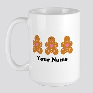Personalized Gingerbread Cookie Large Mug
