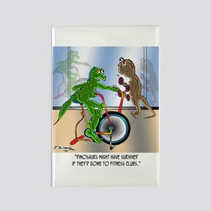 Dinosaurs @ Health Clubs? Rectangle Magnet