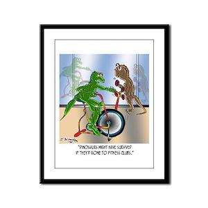 Dinosaurs @ Health Clubs? Framed Panel Print