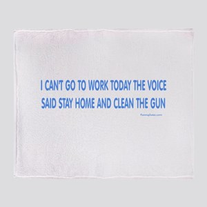 Can't Work Voice Throw Blanket