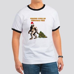 BIGFOOT STOLE MY CHRISTMAS TR Ringer T