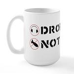 Drop Beats Not Bombs Large Mug