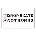 Drop Beats Not Bombs Sticker (Rectangle)