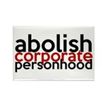 Abolish Corporate Personhood Rectangle Magnet (10