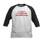 Numerator and Denominator Kids Baseball Jersey