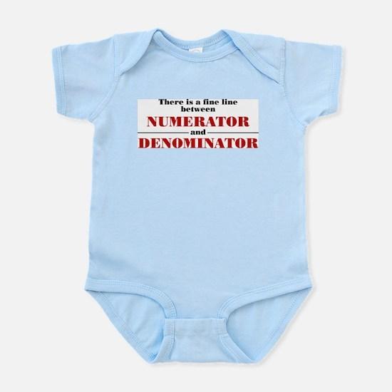 Numerator and Denominator Infant Bodysuit