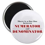 Numerator and Denominator Magnet
