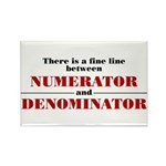 Numerator and Denominator Rectangle Magnet
