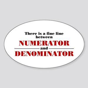 Numerator and Denominator Sticker (Oval)
