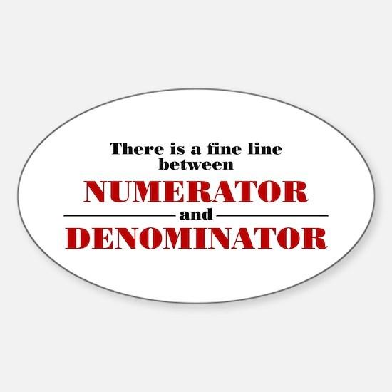 Numerator and Denominator Sticker (Oval)